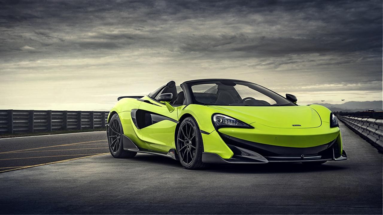 Fotos McLaren Spider 2019 600LT Roadster Gelbgrüne Autos