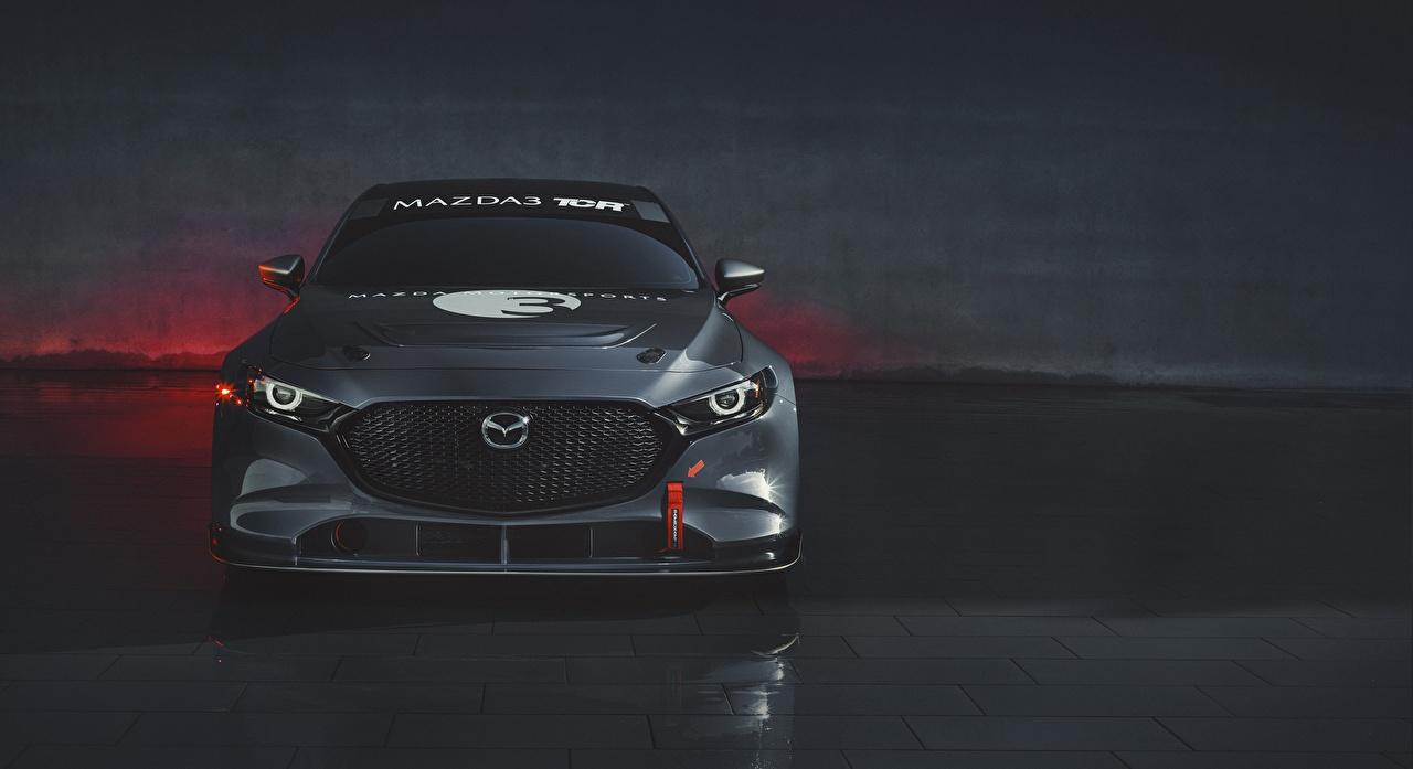 Mazda 3 2020 TCR Na frente Cinza carro, automóvel, automóveis Carros