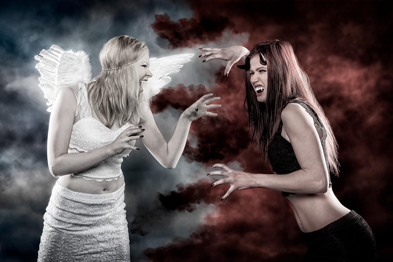 Fondos De Pantalla Angel Demonios Vampiro Fantasia Chicas