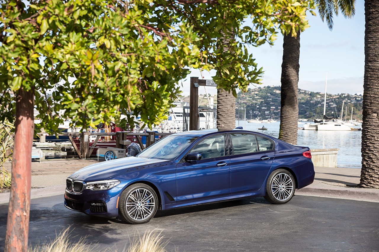 Picture BMW 2018 540i Sedan M Sport Blue Cars Metallic