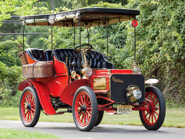 Desktop Wallpapers 1904 Rambler Model L Canopy Tonneau Red vintage auto Retro antique Cars automobile