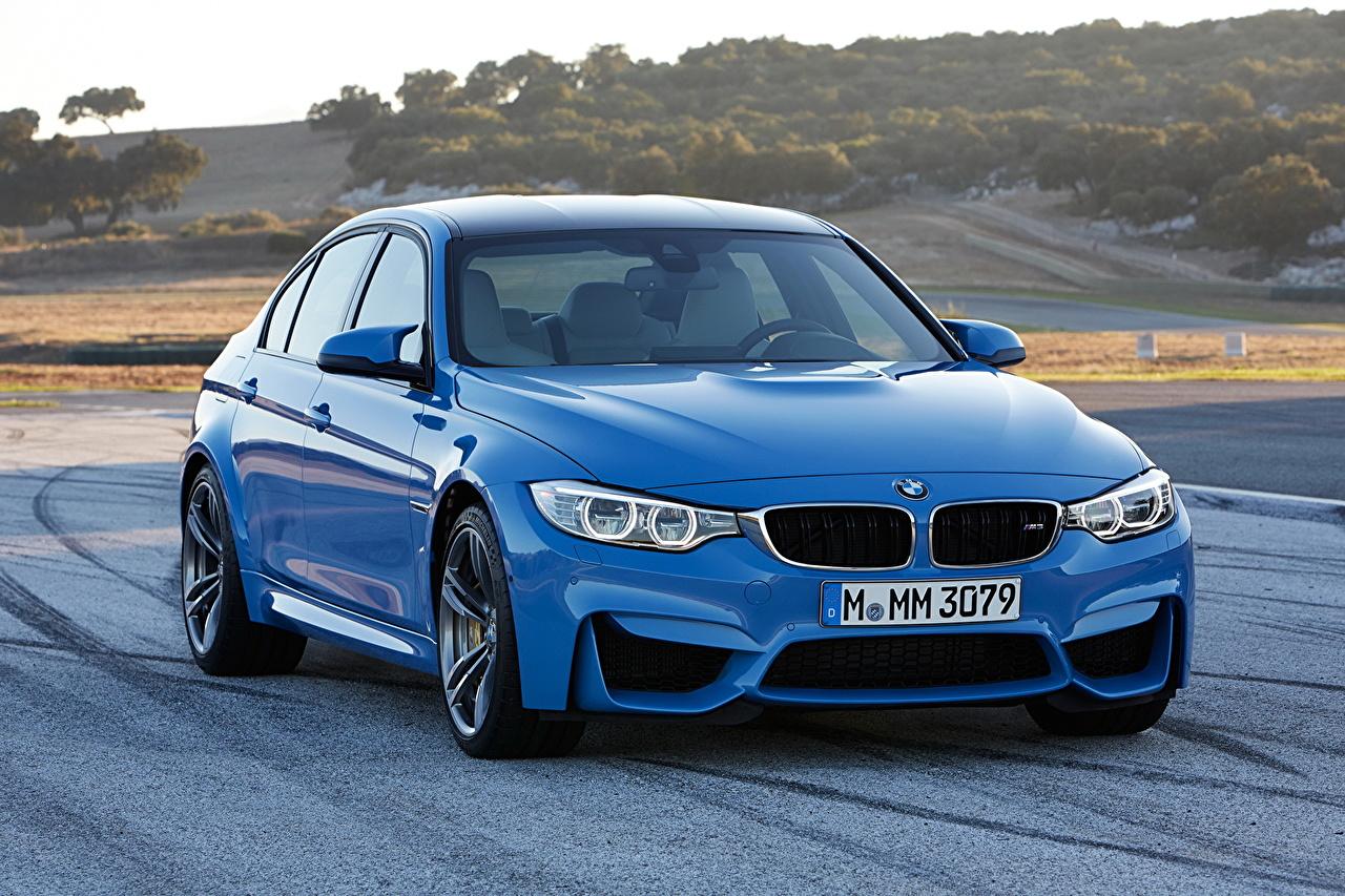 Desktop Wallpapers BMW 2014 M3 Light Blue Roads auto Cars automobile