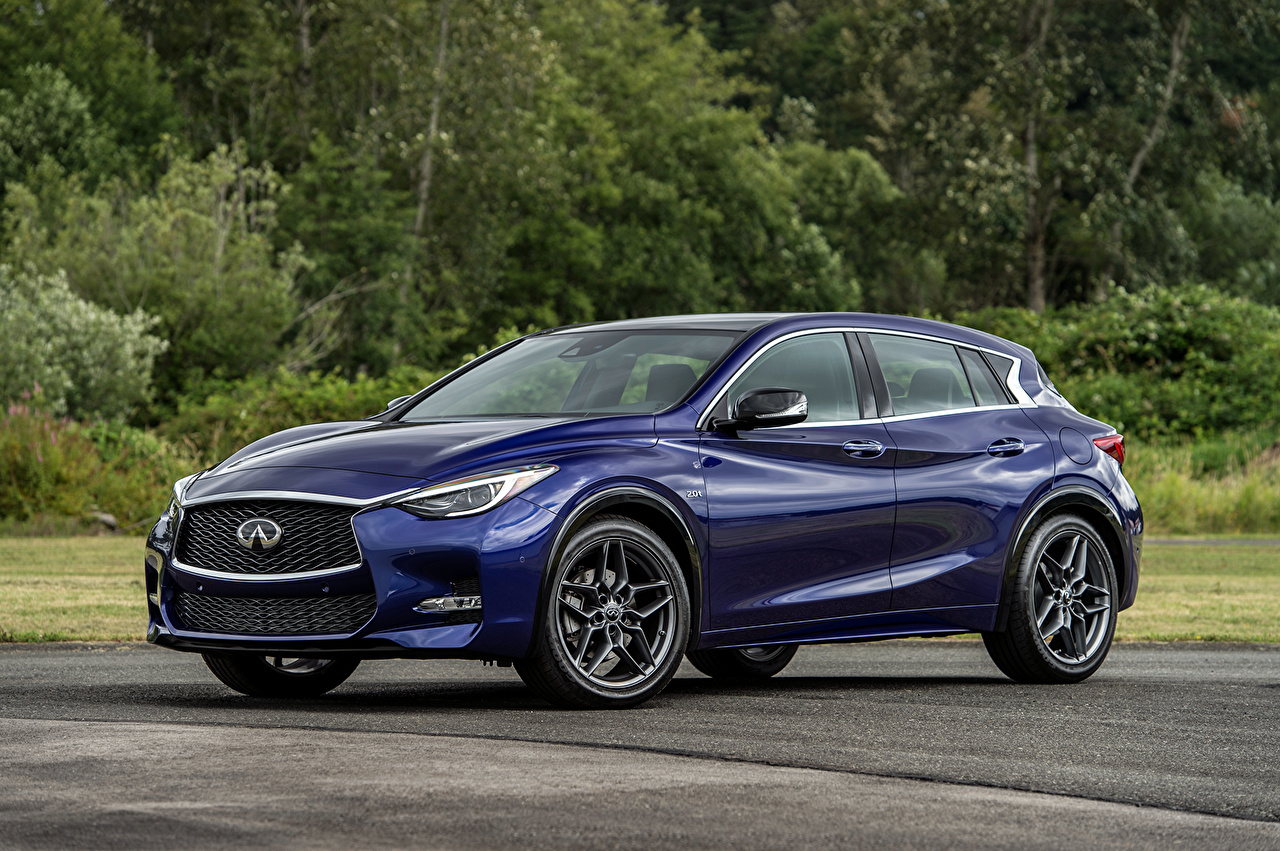 Image Infiniti 2017 QX30S 2.0t Blue auto Metallic Cars automobile