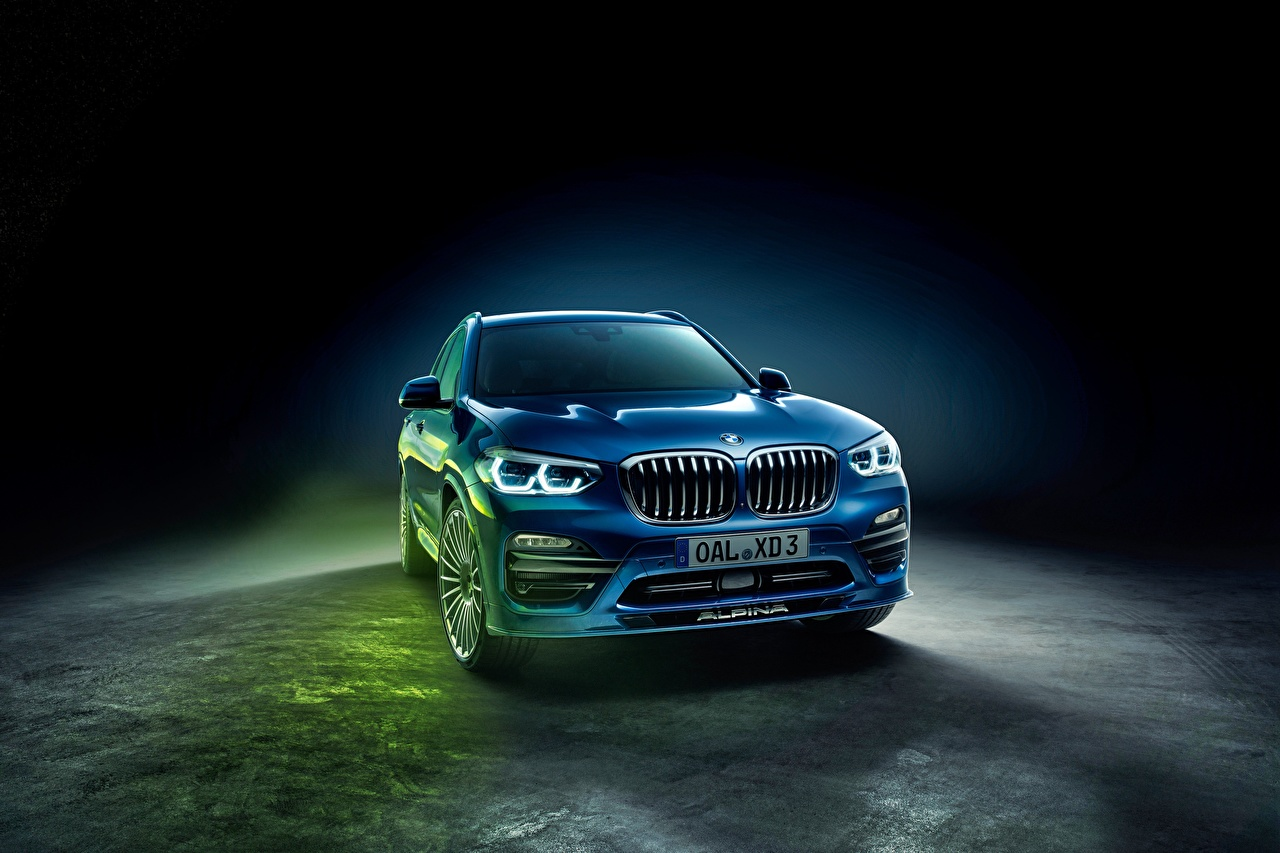 Photos BMW Alpina XD3 G01 Allrad Blue automobile Cars auto