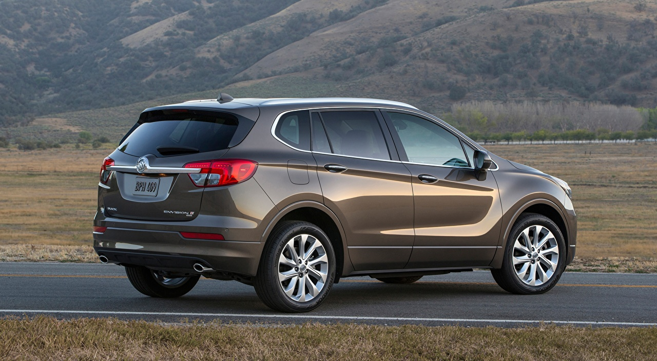 Desktop Wallpapers Buick CUV Envision, 2016 gray Side auto Crossover Grey Cars automobile