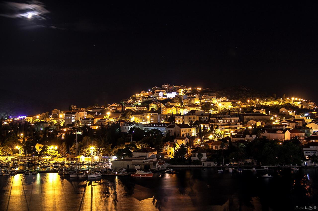 Croatie Maison Dubrovnik Nuit Bâtiment Villes
