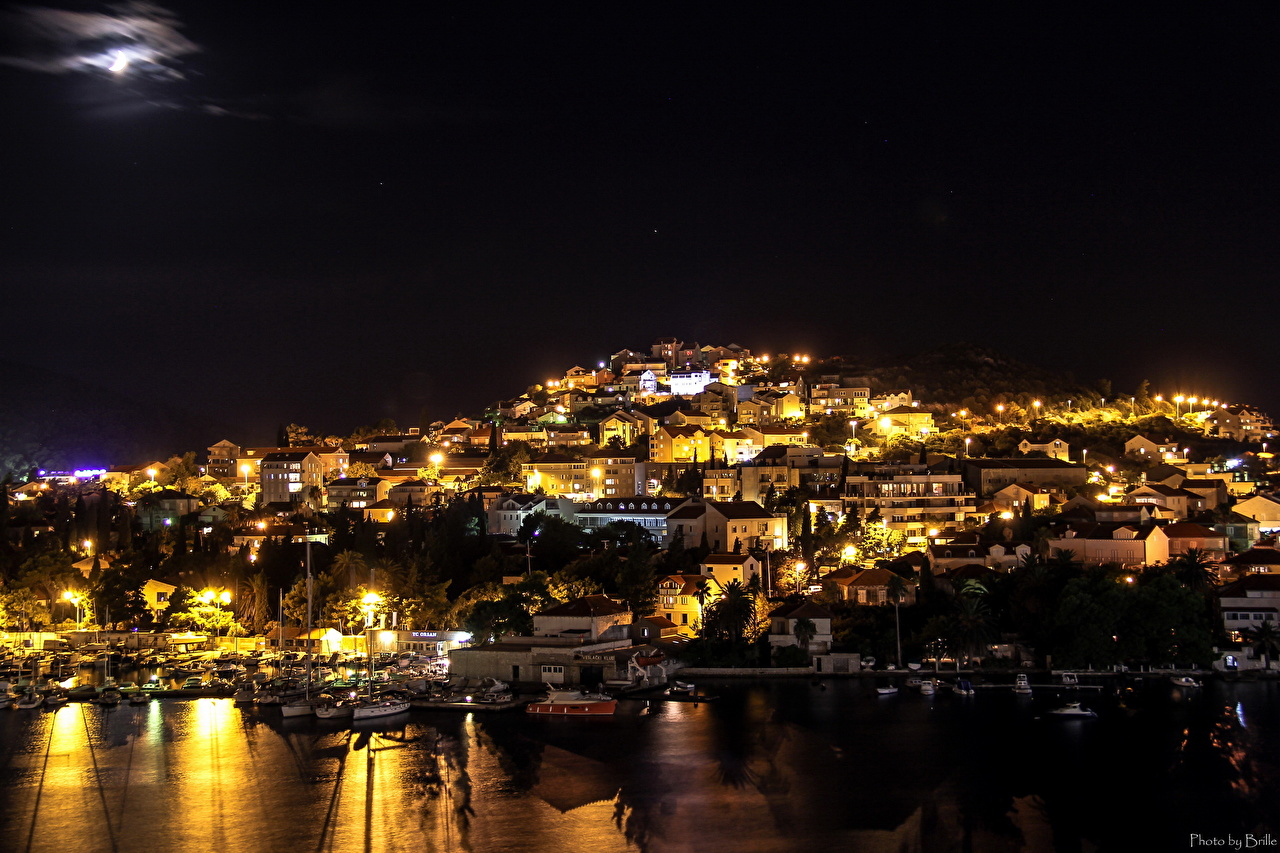Photos Cities Croatia Dubrovnik Building night time Night Houses
