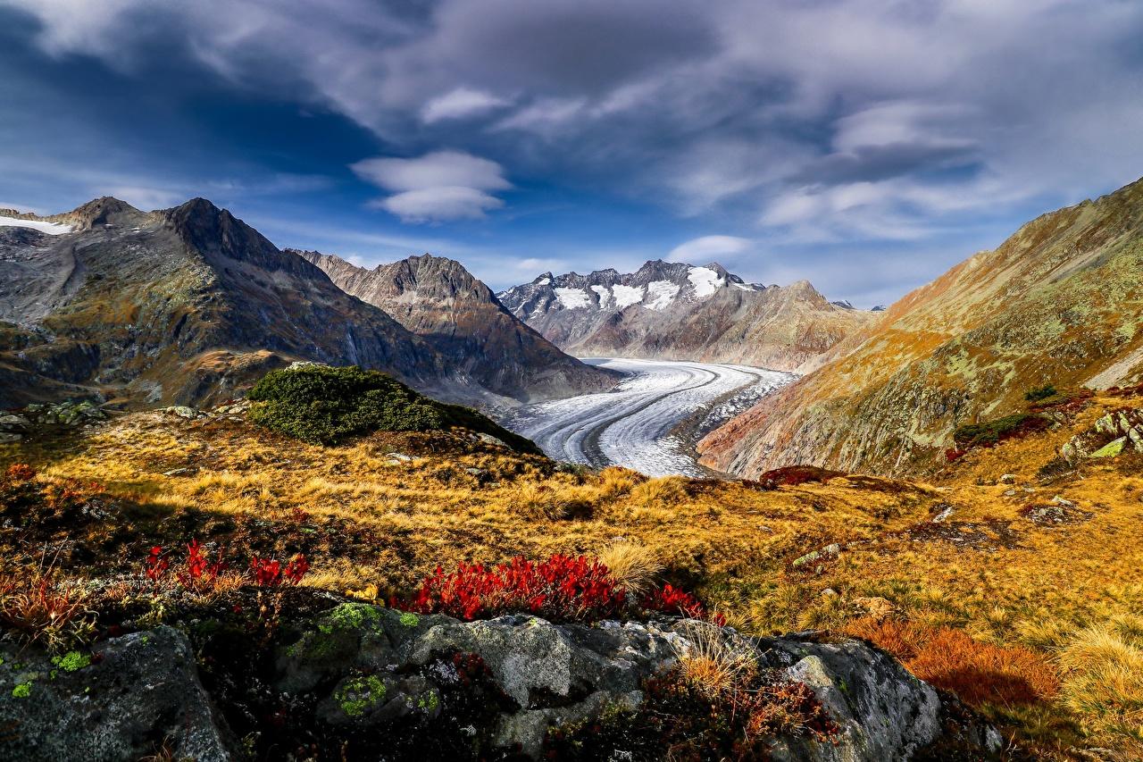 Bilder von Alpen Schweiz Aletsch Glacier Natur Gebirge Berg