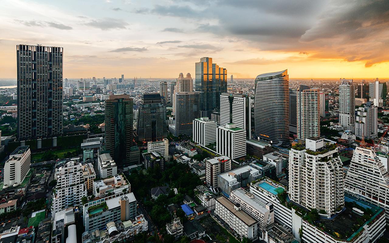 Tailândia Casa Banguecoque Megalópolis Edifício Cidades