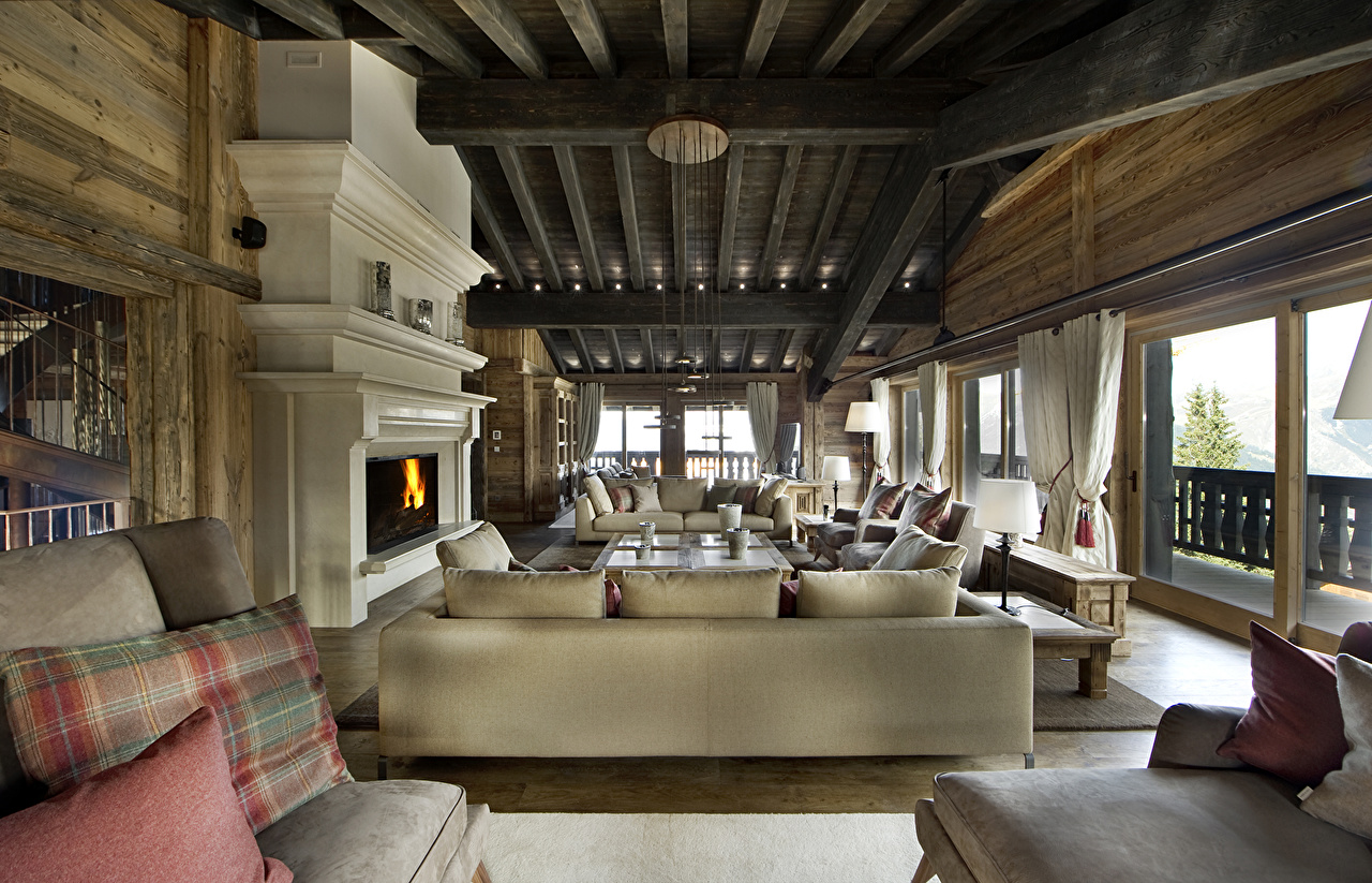 Picture France Resorts Courchevel Hotel Interior Couch Spa town Sofa