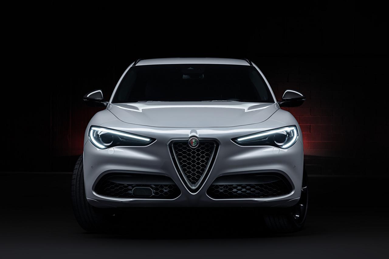 Pictures Alfa Romeo CUV Stelvio Veloce Ti (949), 2020 White Front Metallic automobile Crossover Cars auto