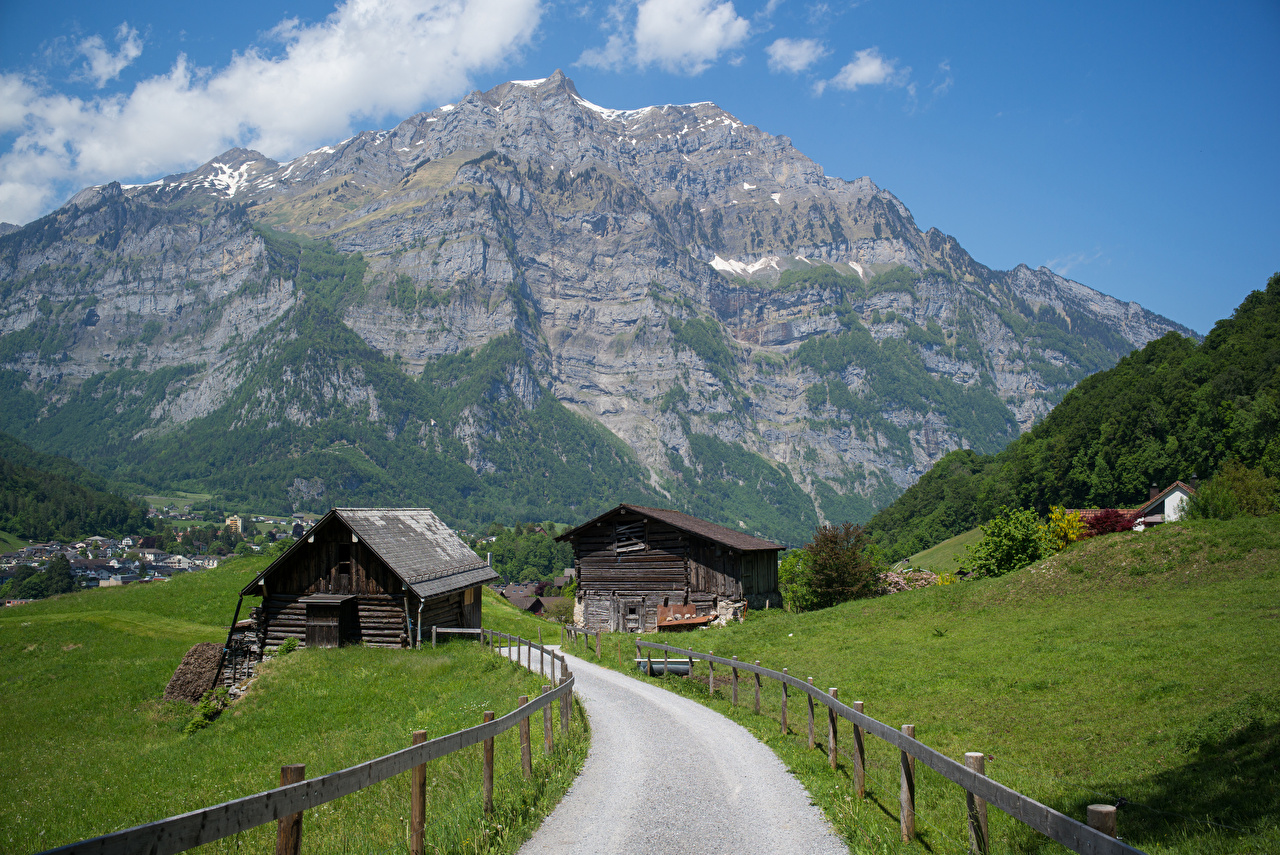 Image Alps Switzerland Glarus Nature Mountains Roads mountain