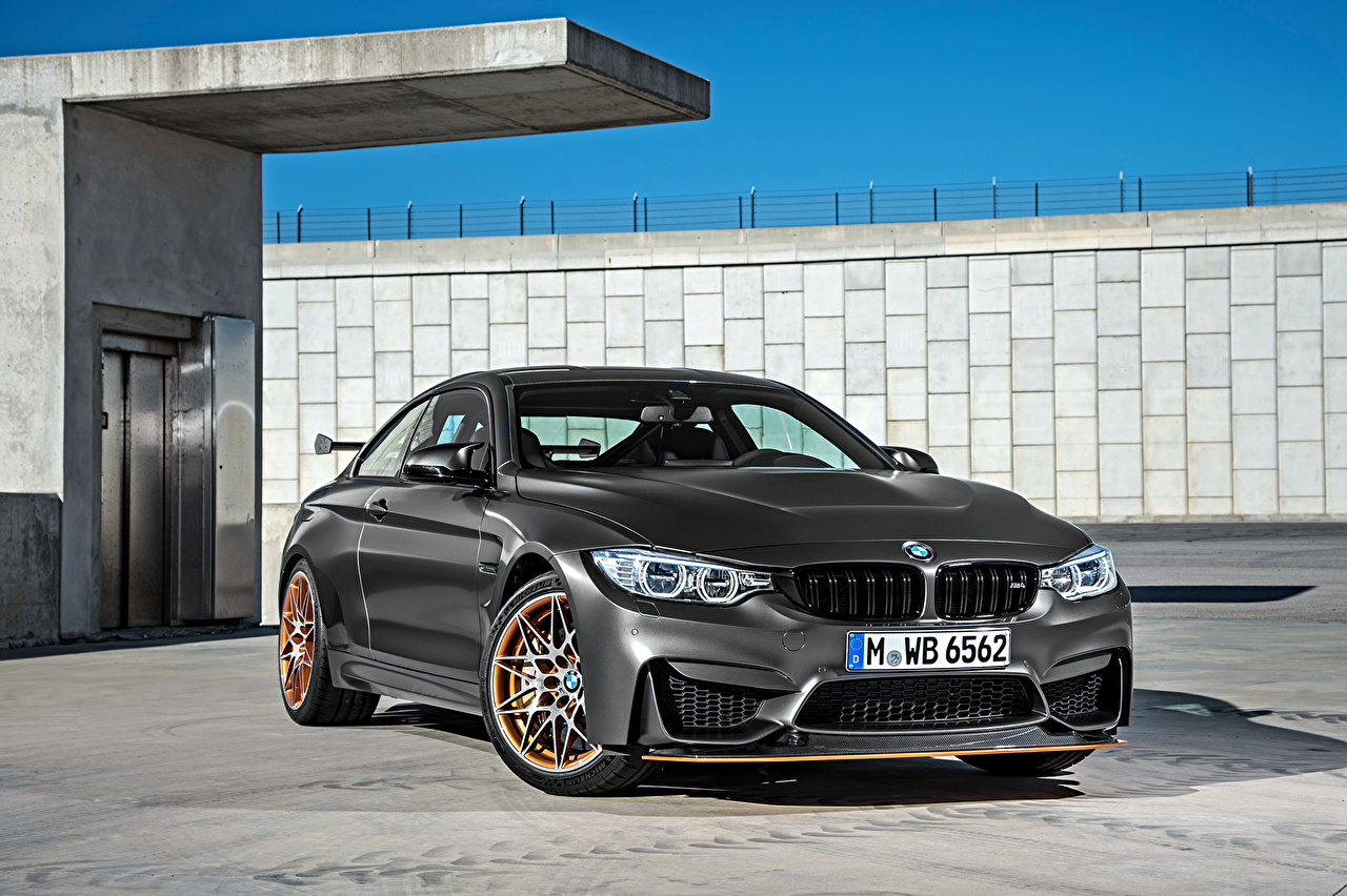 Pictures BMW 2015 M4 GTS F82 Grey automobile gray Cars auto