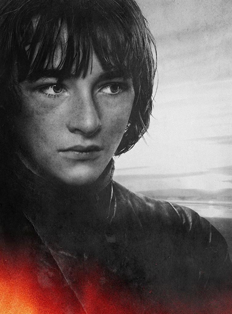 Fotos Game of Thrones Junger Mann Bran Stark, Isaac Hempstead Wright Gesicht Film Prominente Nahaufnahme  für Handy kerl jugendlich hautnah Großansicht