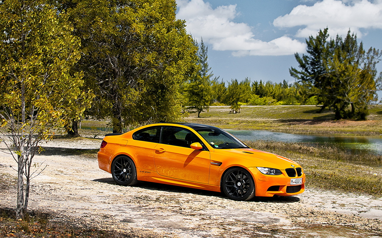 Wallpaper BMW Yellow Side Cars auto automobile