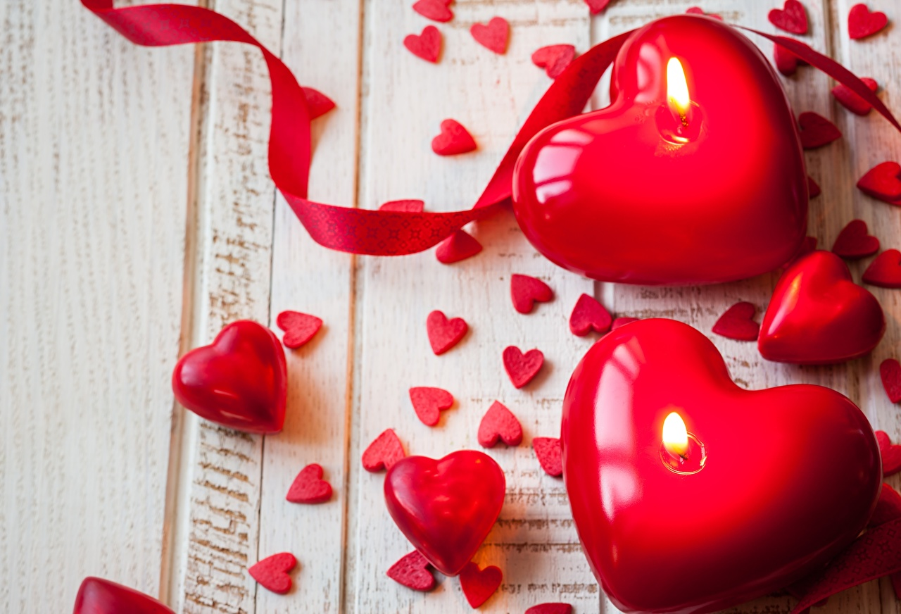 Images Valentine's Day Heart Red Candles