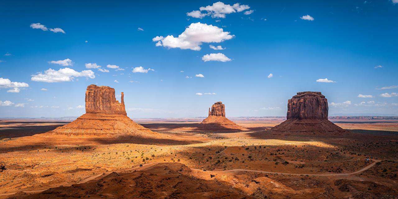 Fotos von USA Monument Valley, Utah Natur Felsen Himmel Wolke Vereinigte Staaten