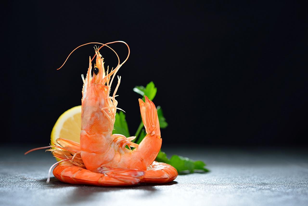 Image Lemons Caridea Food Shrimp