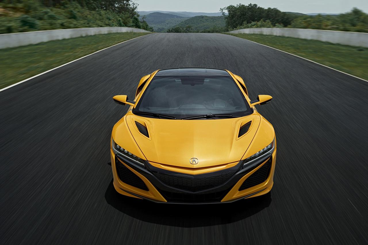Papeis De Parede Honda Acura Nsx 2020 Na Frente Amarelo Carros Baixar Imagens