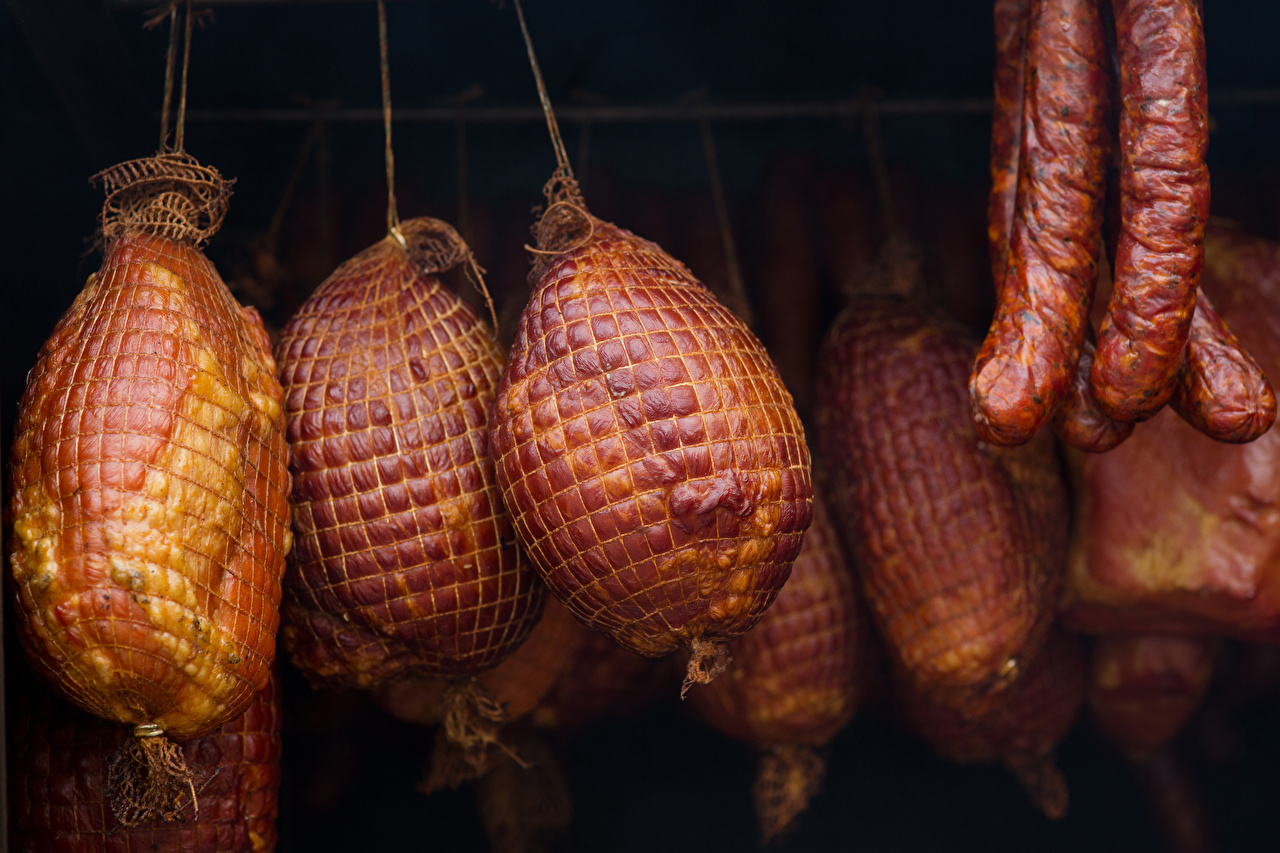 Photo Sausage Ham Food Meat products