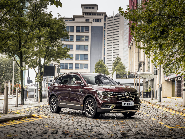 Bilder Renault 2019-20 Koleos dunkelrote auto Metallisch Bordeauxrot burgunder Farbe Autos automobil