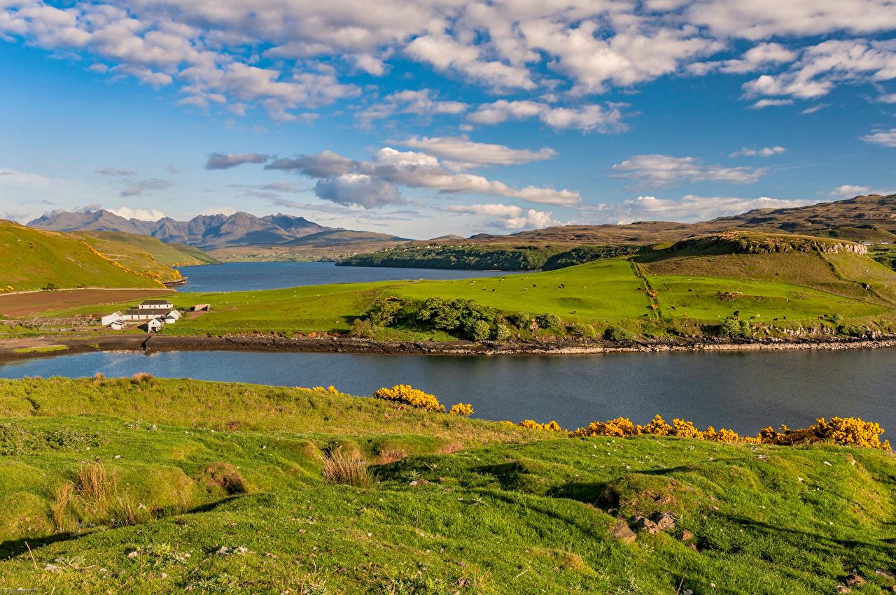 、スコットランド、風景写真、山、Isle of Skye、丘、自然、