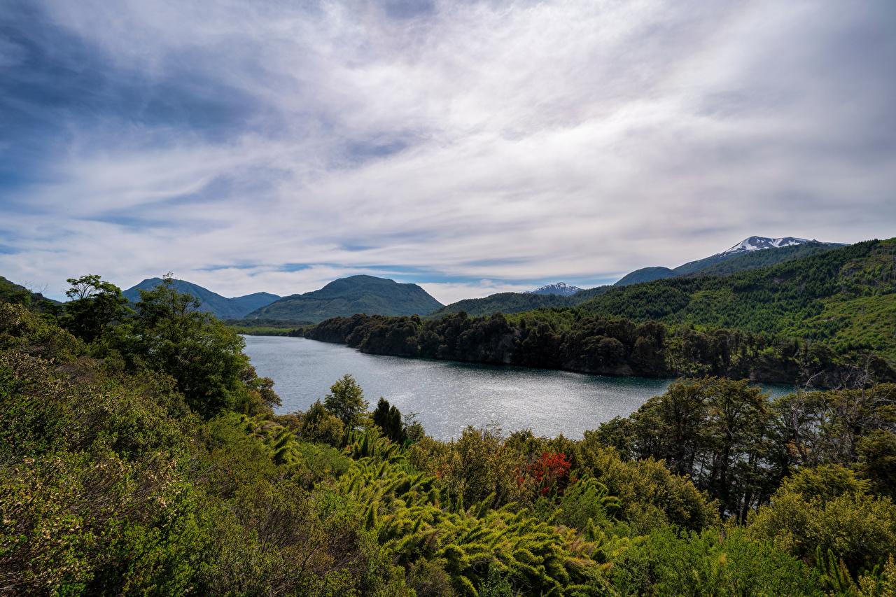 Desktop Wallpapers Argentina Patagonia, Seven Lakes Road Nature Mountains Lake Clouds mountain