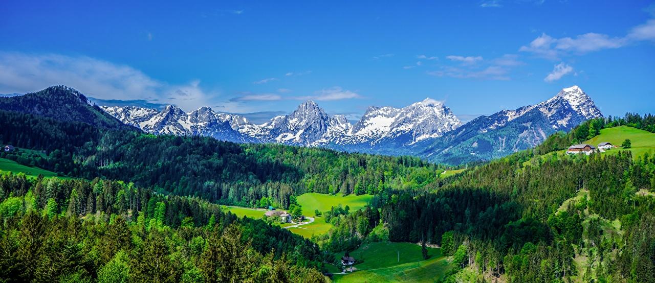 Panorama Photographie de paysage Forêts Autriche Vallée Alpes forêt, photographie Nature