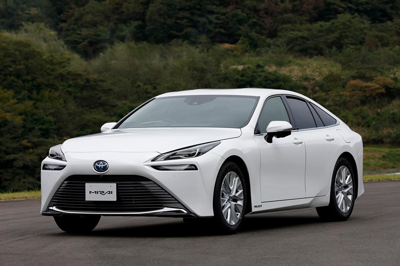 Picture Toyota Mirai G Executive Package, JP-spec, 2020 White Cars Metallic auto automobile