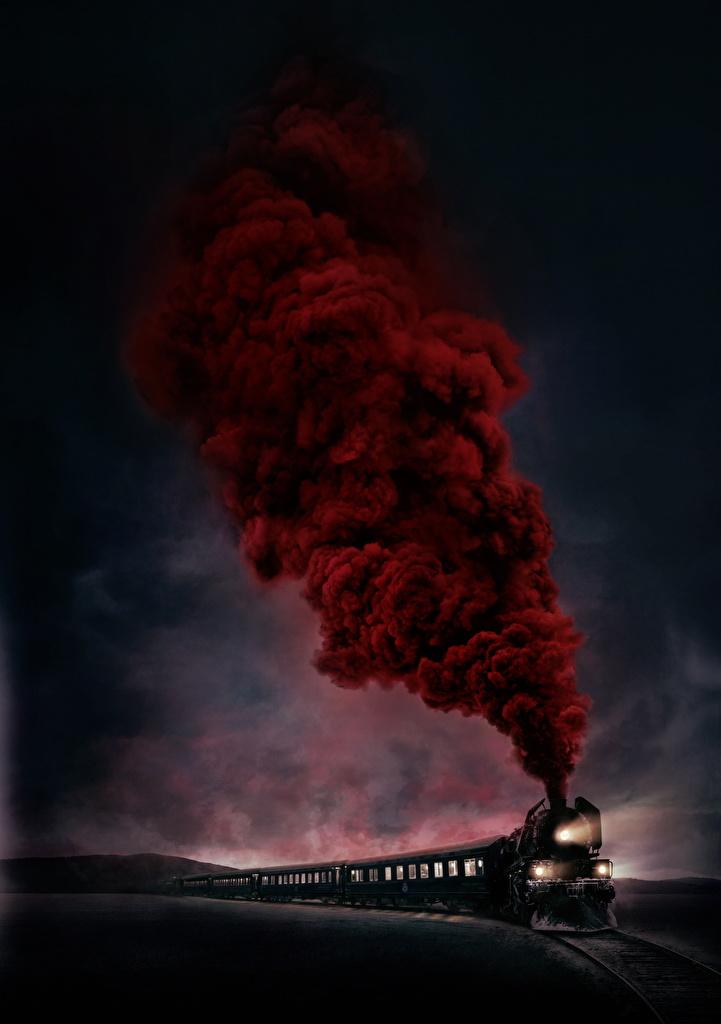 zdjęcia Morderstwo w Orient Expressie 2017 film pociągi Dym  dla Telefon komórkowy Filmy Pociąg