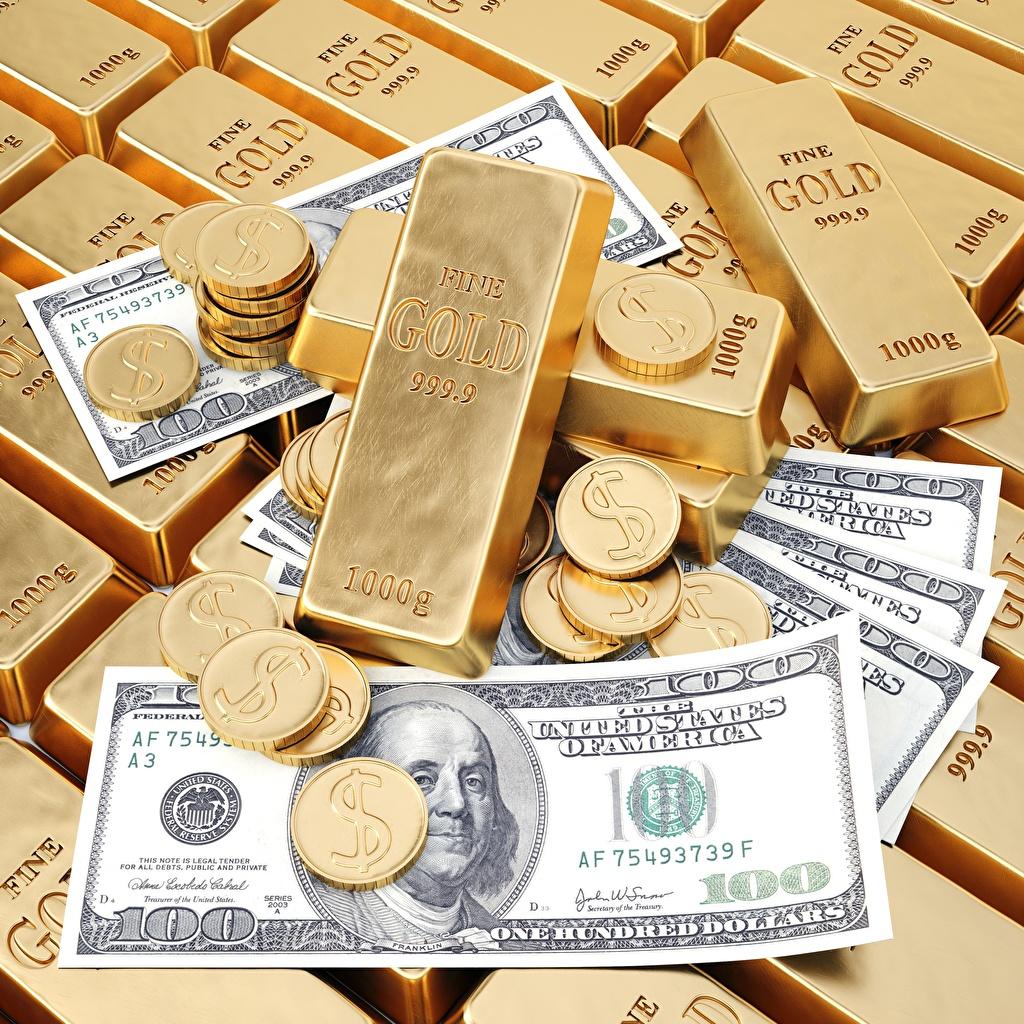 Desktop Wallpapers Coins Gold Ingots Money