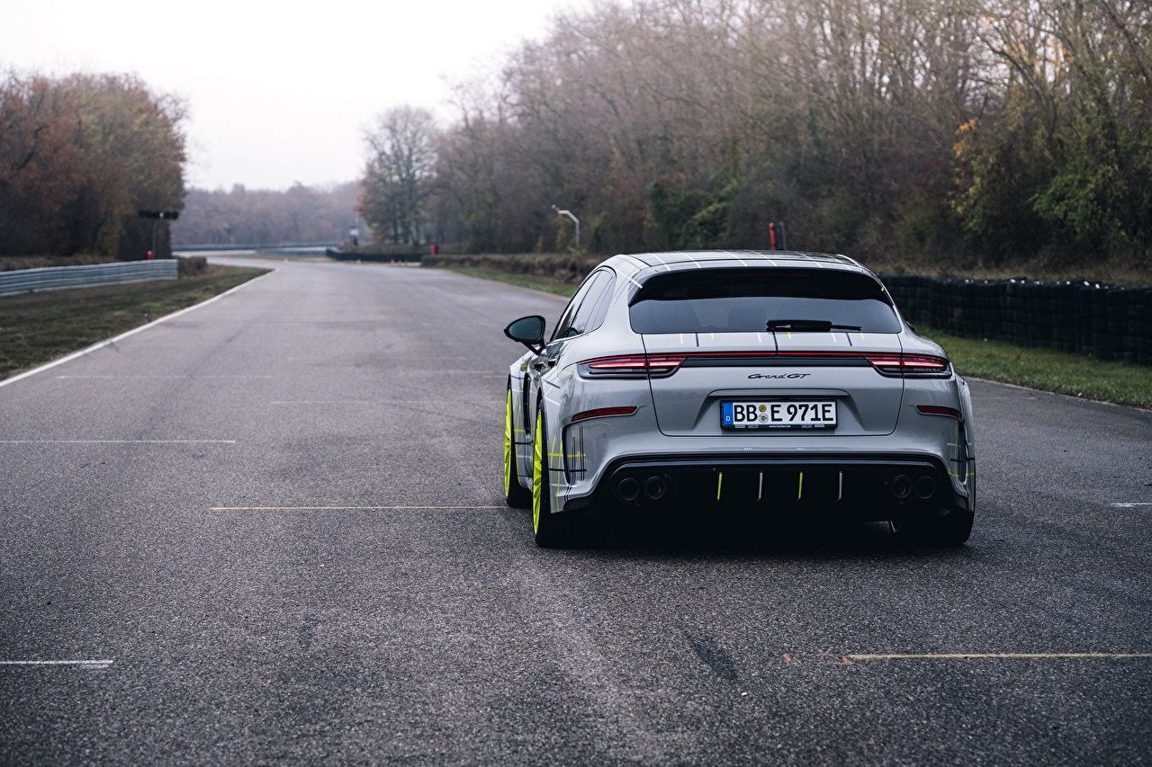 Picture Porsche Panamera Turbo 2018 TechArt Grand GT Back view automobile auto Cars