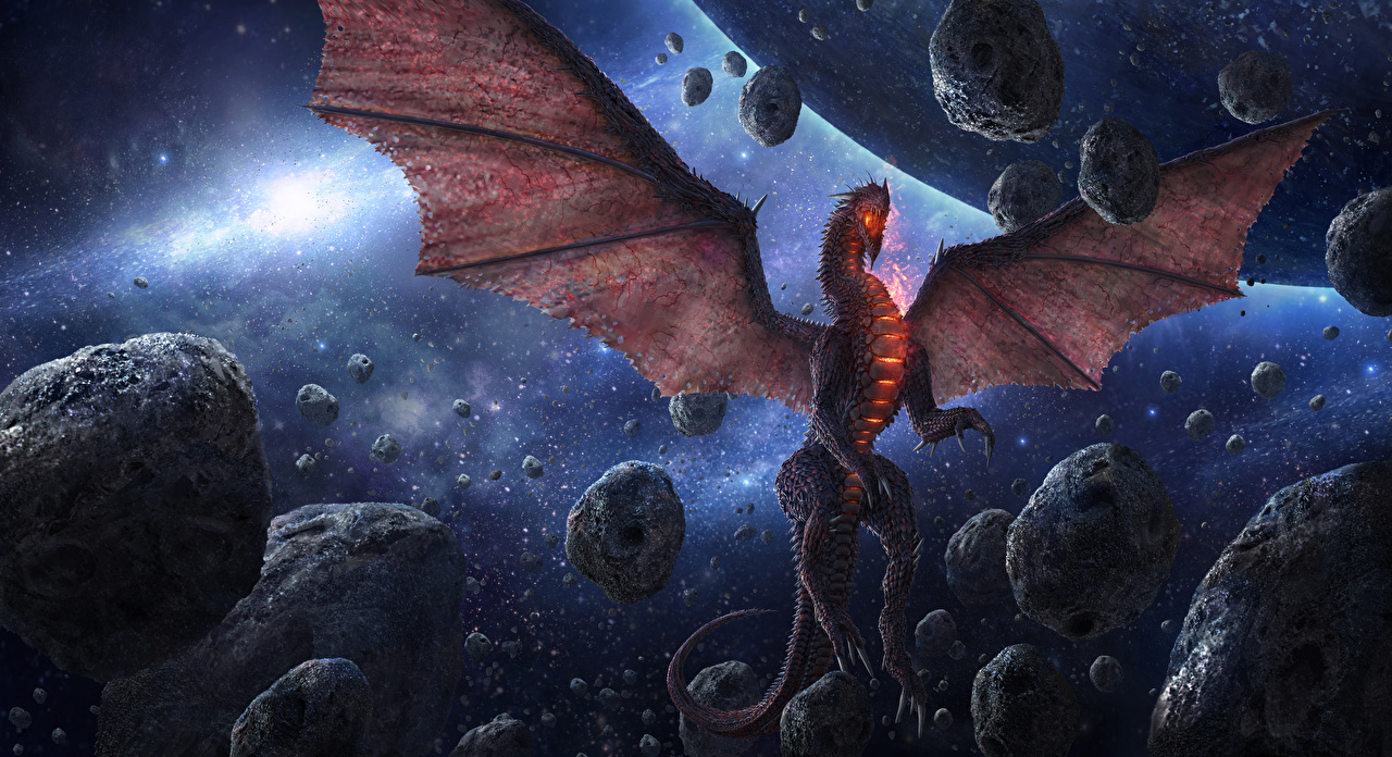Pictures Dragons Wings Chris Fox Planet Strider Space