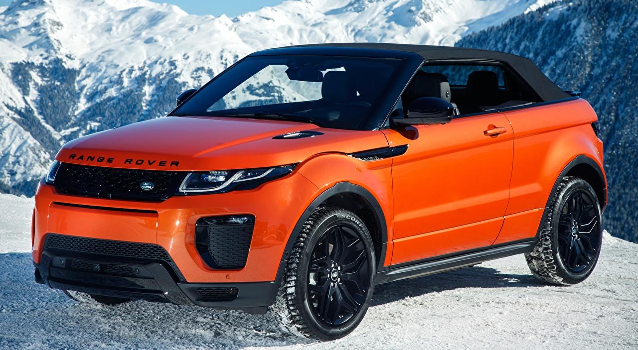 Foto Land Rover Crossover Evoque, Convertible HSE Dynamic, 2016 Orange auto Metallisch Softroader Autos automobil