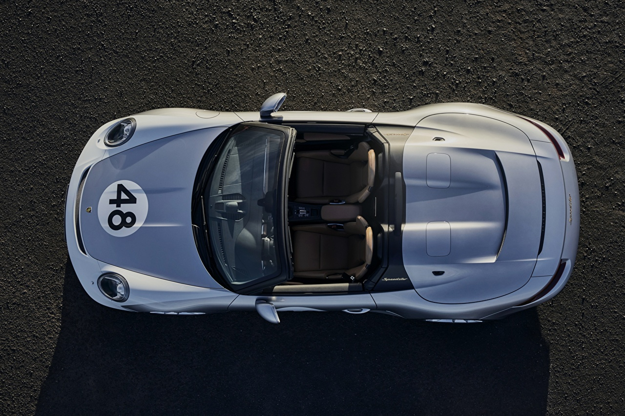 Wallpaper Porsche Speedster 991 2019 Roadster Cars From above auto automobile