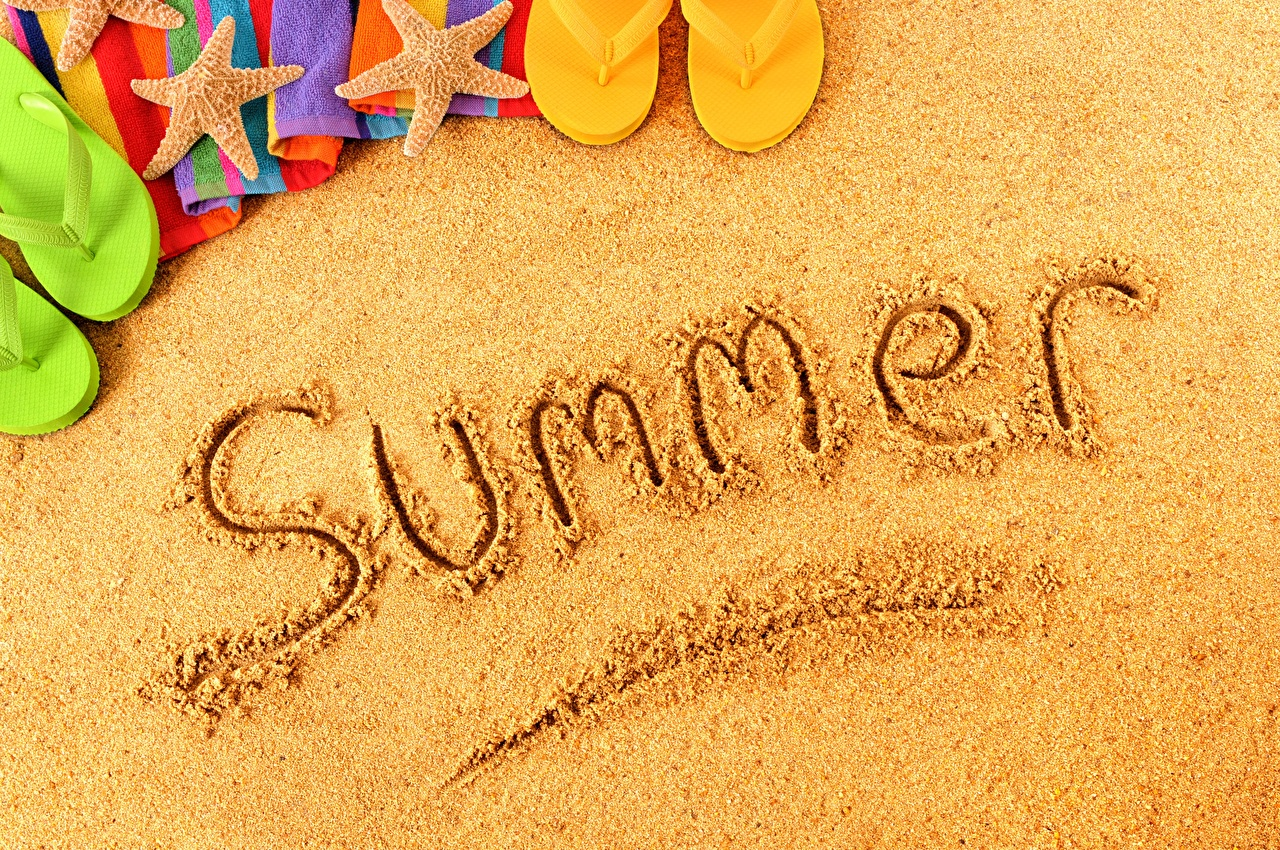 Images English Summer Sand Word - Lettering text lettering