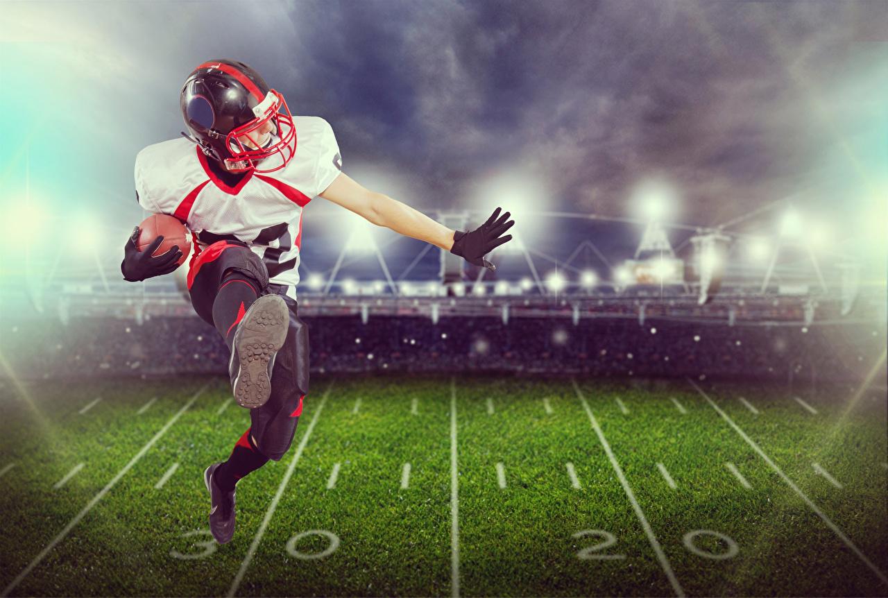 Fotos von Mann Laufsport American Football Sport Ball Uniform Lauf Laufen sportliches