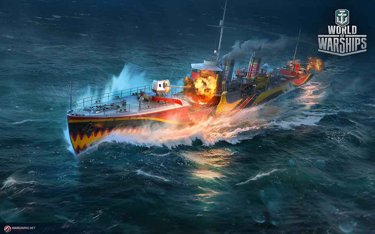 Hintergrundbilder World Of Warship Japanisch Destroyer Fujin Spiele Schiffe Heer
