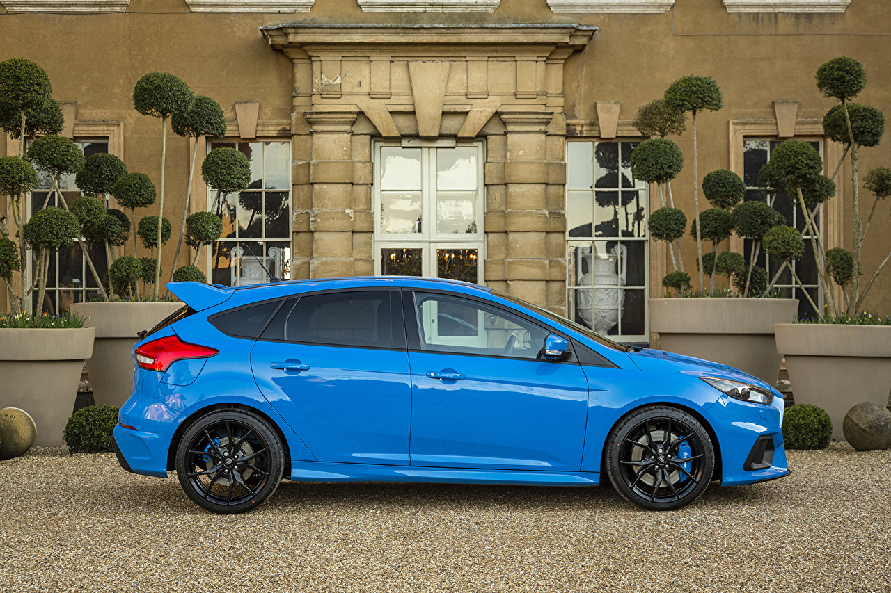 Wallpaper Ford 2016 Focus Rs Light Blue Side Cars Metallic