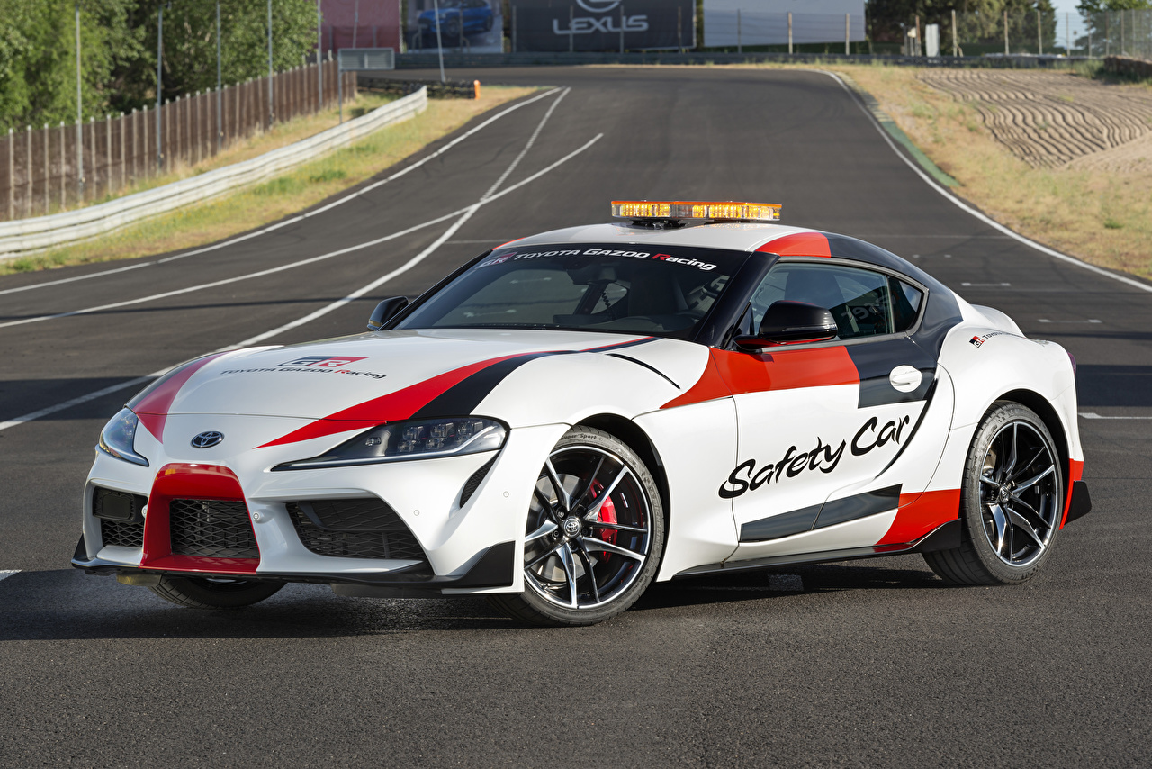 Images Toyota Tuning 2019 GR Supra Safety Car White Cars auto automobile