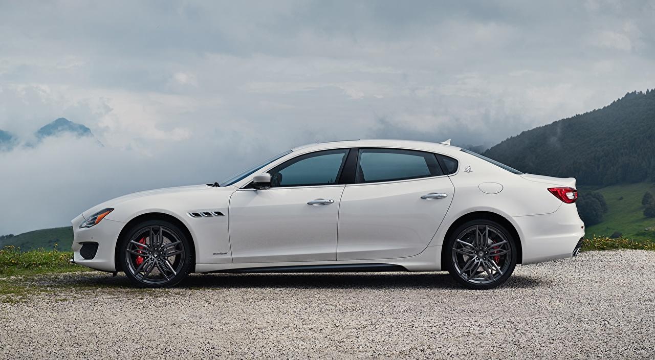 Image Maserati Quattroporte GTS, GranSport, US-spec, 2018, Luxury Sedan White Side Cars auto automobile