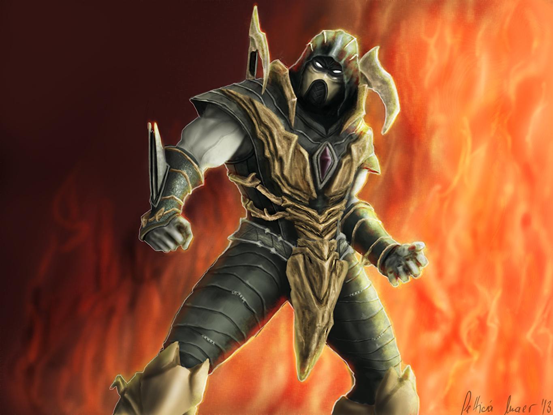 Desktop Wallpapers Mortal Kombat Armor Ninjas Warriors Scorpion