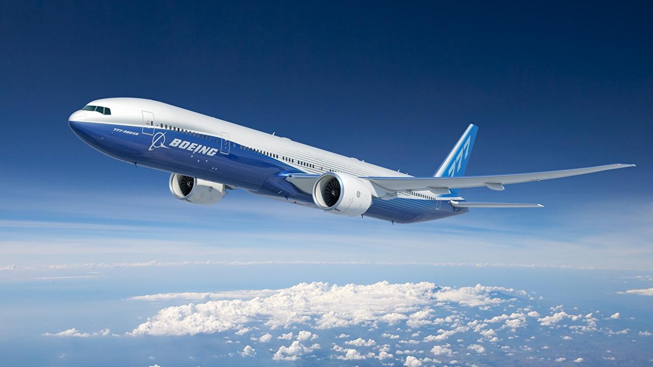 Tapety Boeing Samoloty Samolot pasażerski 777-300ER Lot Lotnictwo samolot latająca