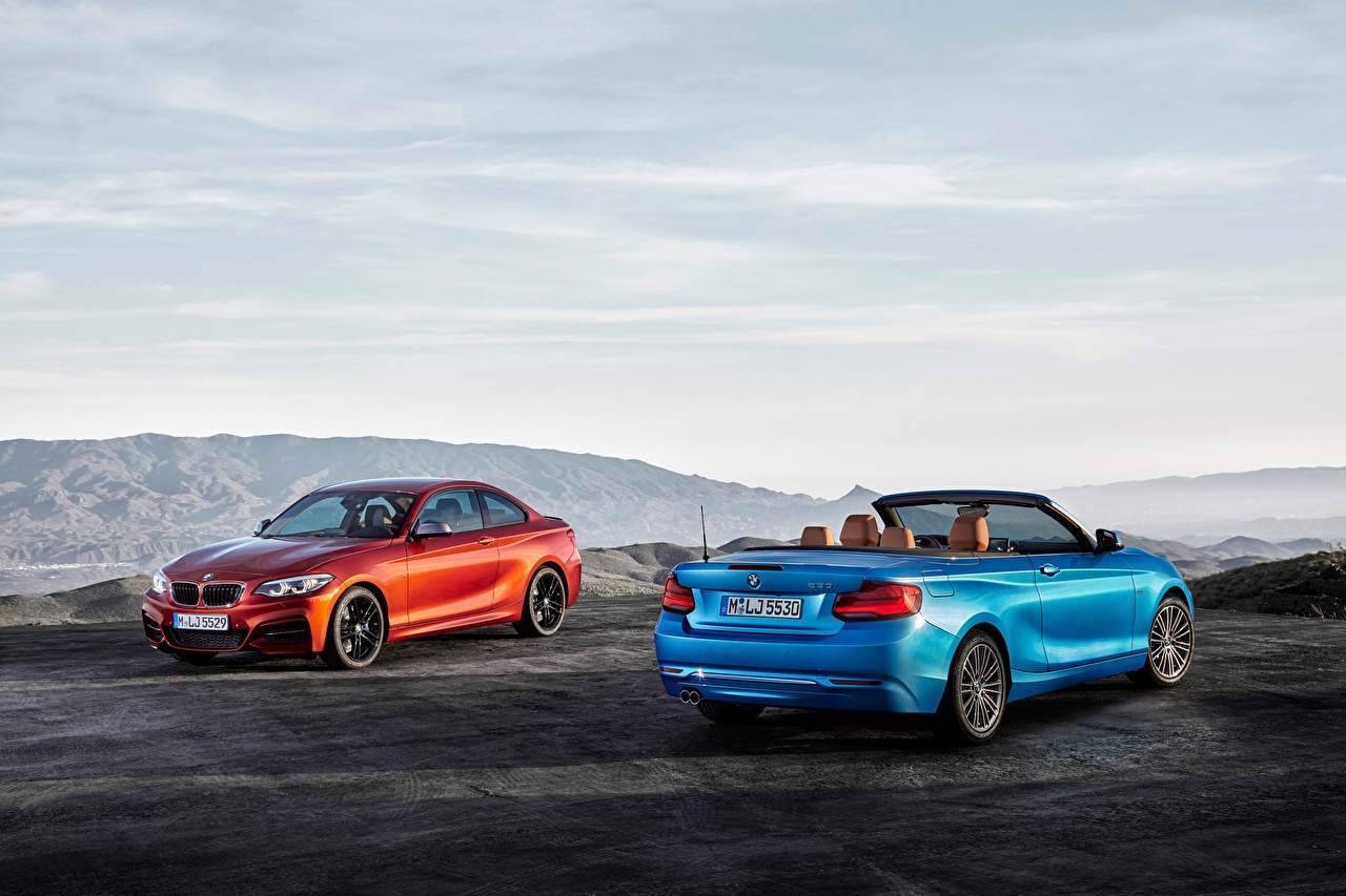 Photos BMW 2014-17 Serie 2 Cabriolet Two Cars Convertible auto automobile