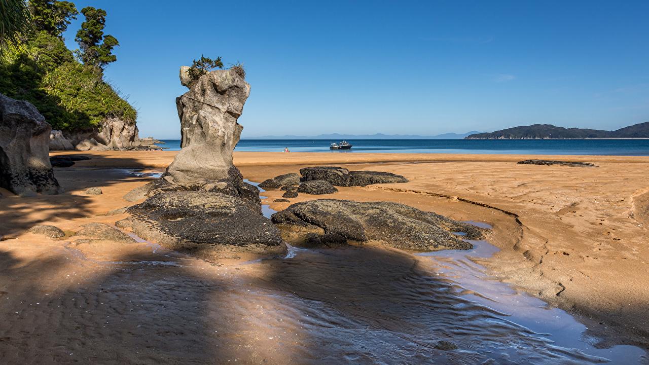 Fotos Neuseeland Totaranui Beach, Abel Tasman National Park Strand Natur Felsen Küste Strände