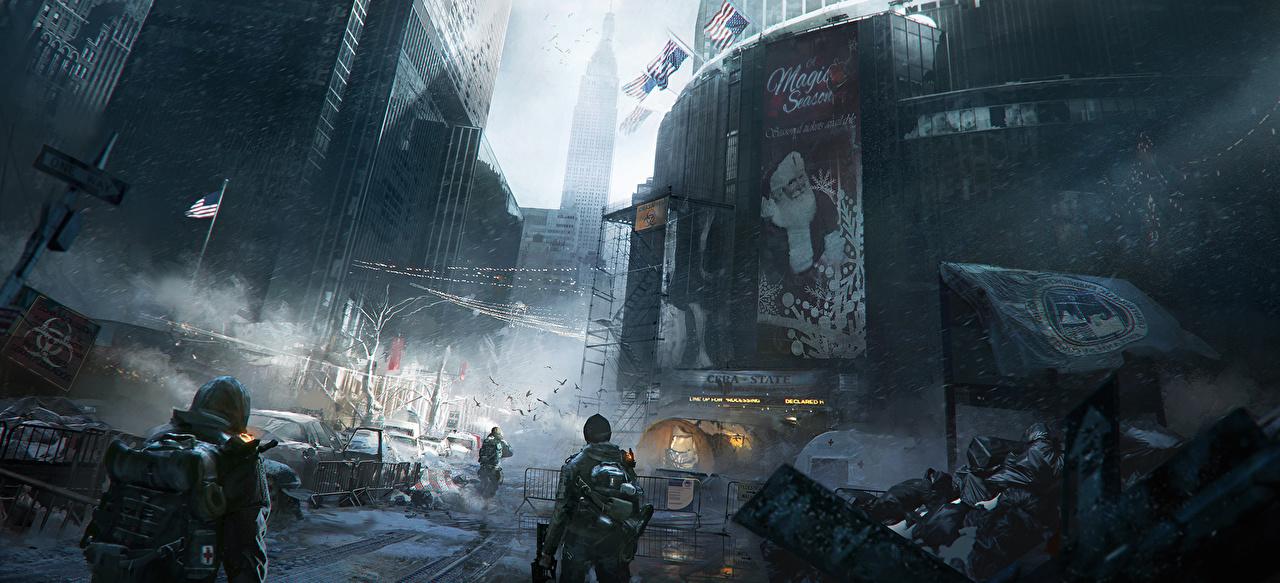 壁紙 トム クランシー 兵 超高層建築物 アメリカ合衆国 The Division ゲーム ダウンロード 写真