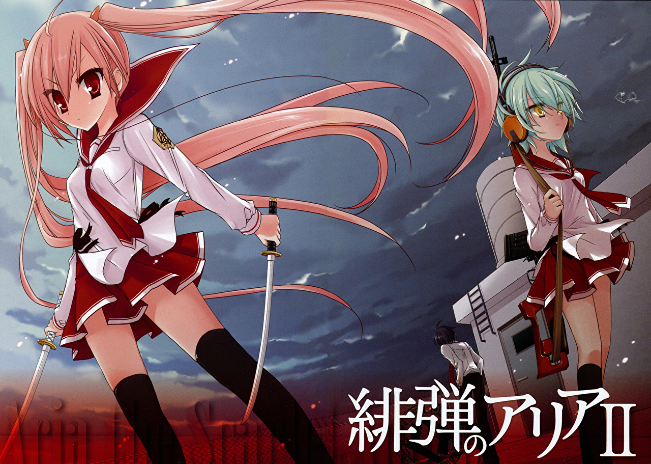 Wallpaper Aria The Scarlet Ammo Anime