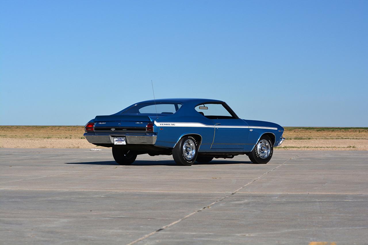 Fotos von Chevrolet 1969 COPO Chevelle Yenko SC Blau antik Autos Retro