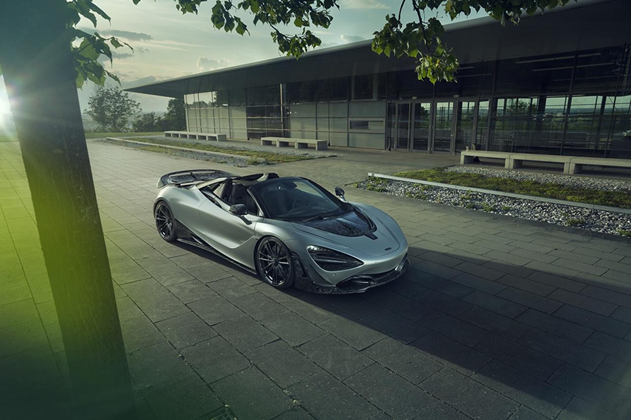 Desktop Wallpapers McLaren spider Novitec 720S Roadster Grey Cars gray auto automobile