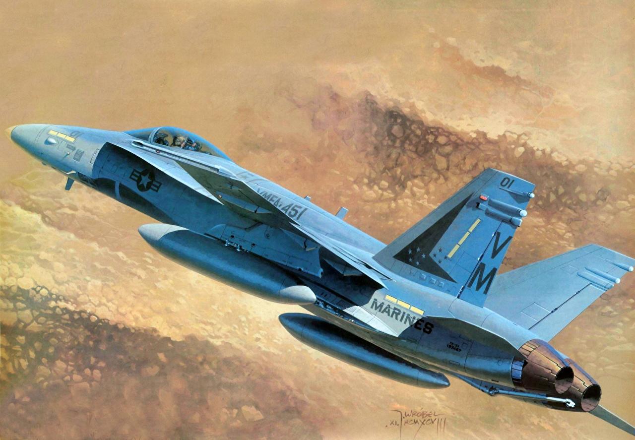 Fondos De Pantalla Avións Dibujado Fa 18 Hornet Aviación